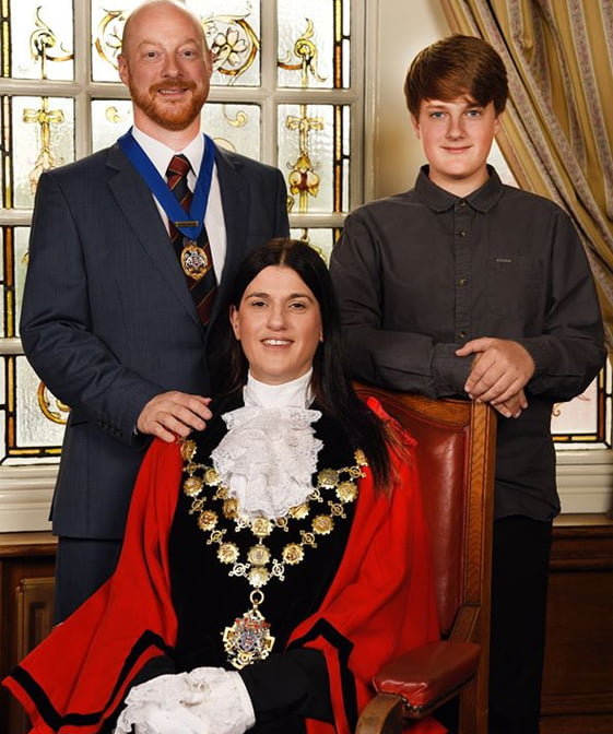 Mayor Kath Hay & Family
