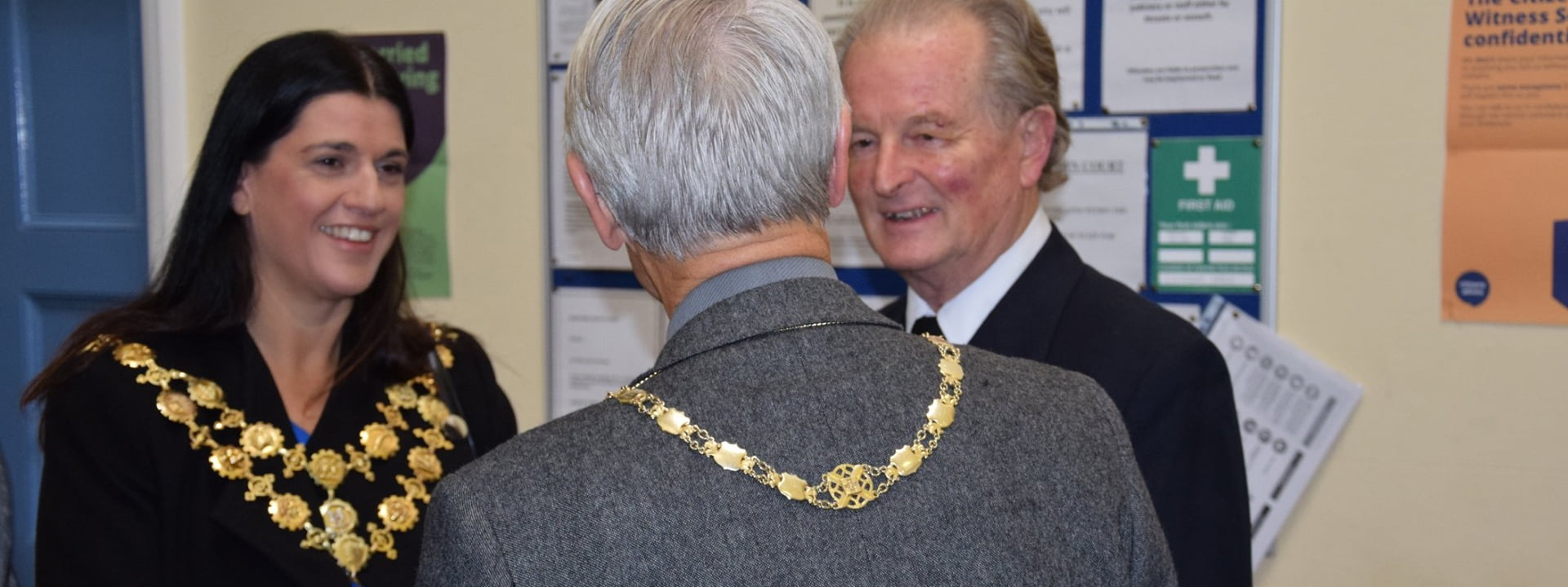 The Mayor Kath Hay Talking With other councillors