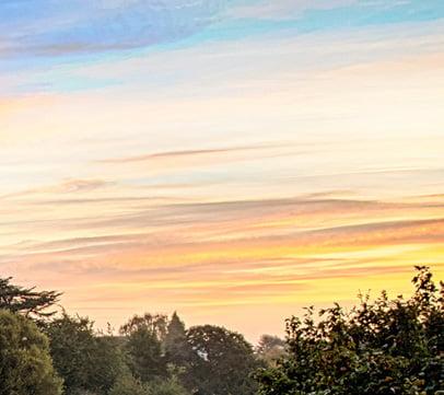An orange sky above hereford