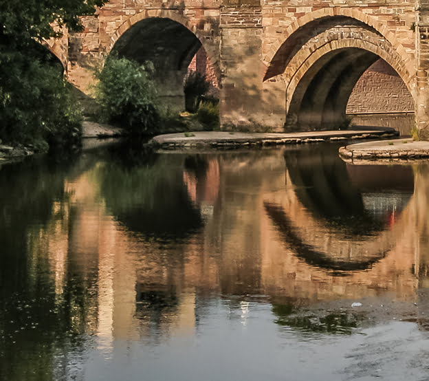 The Old bridge arches hereford