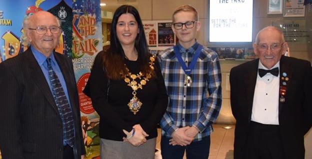 Mayor Kath Hay with the junior mayor